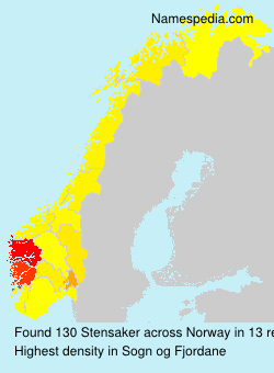 Surname Stensaker in Norway