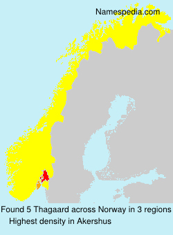Surname Thagaard in Norway