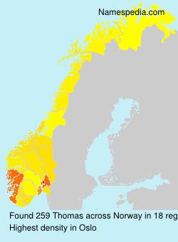 Familiennamen Thomas - Norway