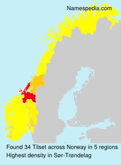 Familiennamen Tilset - Norway
