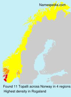 Surname Topalli in Norway