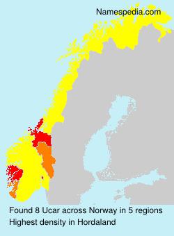 Surname Ucar in Norway