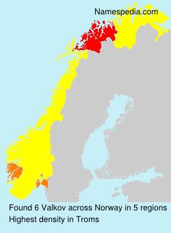Familiennamen Valkov - Norway