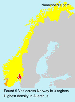 Surname Vas in Norway