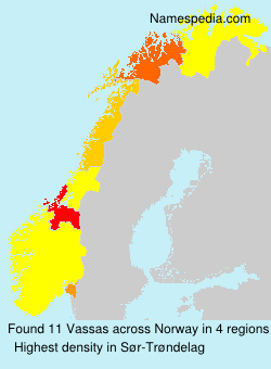 Surname Vassas in Norway