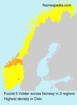 Surname Volder in Norway