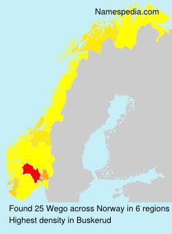 Familiennamen Wego - Norway
