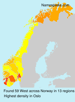 Surname West in Norway