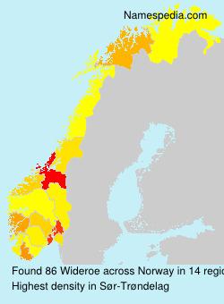 Surname Wideroe in Norway