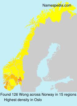 Familiennamen Wong - Norway