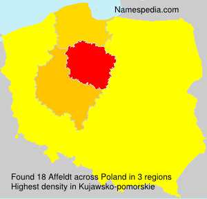 Familiennamen Affeldt - Poland