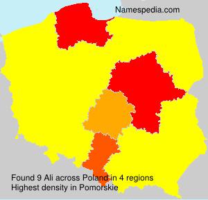 Surname Ali in Poland