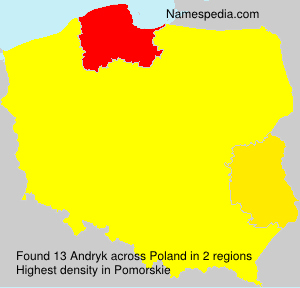 Surname Andryk in Poland