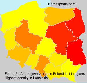 Familiennamen Andrzejewicz - Poland