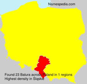 Familiennamen Balura - Poland