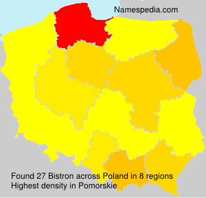 Surname Bistron in Poland