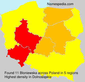 Surname Bloniewska in Poland