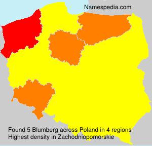 Familiennamen Blumberg - Poland