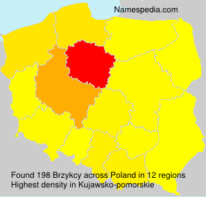 Surname Brzykcy in Poland