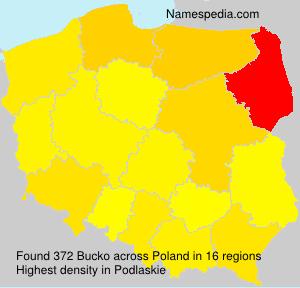 Familiennamen Bucko - Poland
