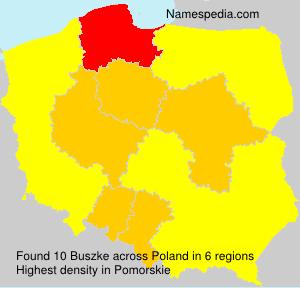 Familiennamen Buszke - Poland