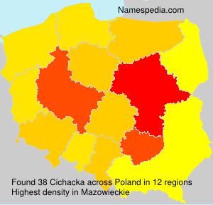 Surname Cichacka in Poland
