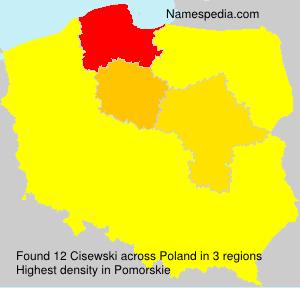 Familiennamen Cisewski - Poland