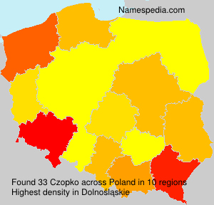 Surname Czopko in Poland
