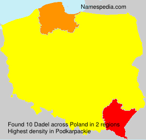 Surname Dadel in Poland