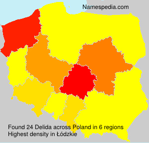 Surname Delida in Poland