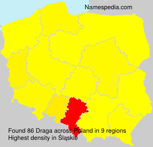 Surname Draga in Poland