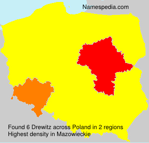 Surname Drewitz in Poland