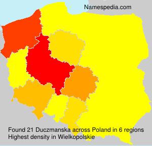 Familiennamen Duczmanska - Poland
