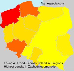 Familiennamen Dziadul - Poland