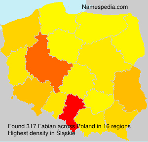 Surname Fabian in Poland