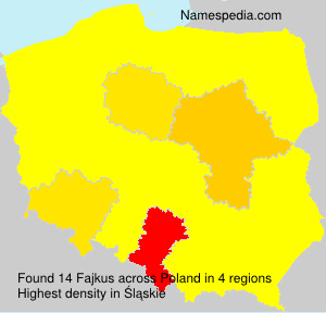 Surname Fajkus in Poland