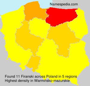 Surname Firanski in Poland