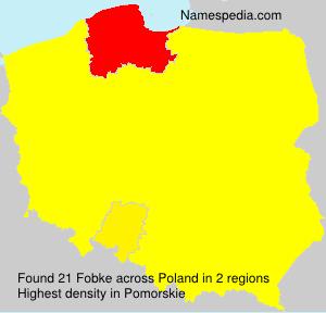 Familiennamen Fobke - Poland