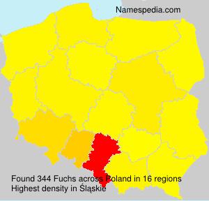 Familiennamen Fuchs - Poland