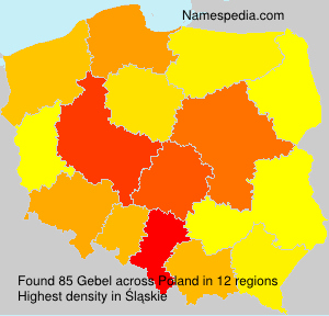 Surname Gebel in Poland
