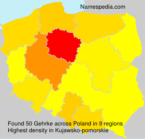 Surname Gehrke in Poland