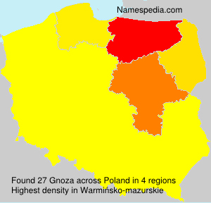 Surname Gnoza in Poland