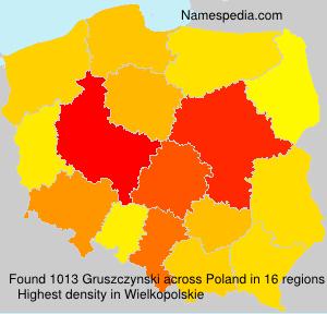 Surname Gruszczynski in Poland