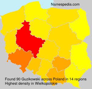 Surname Guzikowski in Poland
