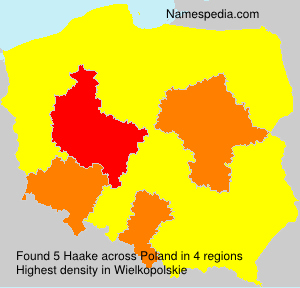Surname Haake in Poland