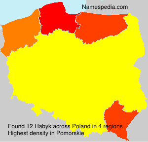 Surname Habyk in Poland