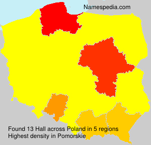 Surname Hall in Poland