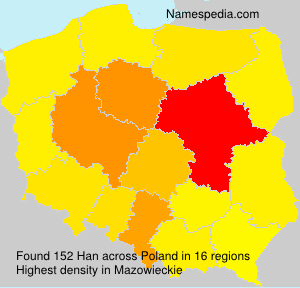 Surname Han in Poland