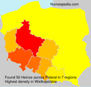 Surname Heinze in Poland