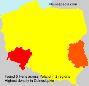 Surname Hens in Poland
